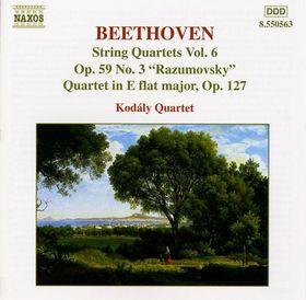 BEETHOVEN - STRING QUARTETS VOL.6 CD KODÁLY QUARTET