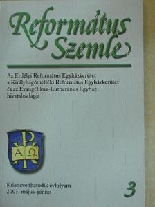 Balogh Csaba - Református Szemle 2003. május-június [antikvár]