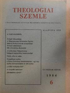 Aurelio Peccei - Theologiai Szemle 1984/6. [antikvár]