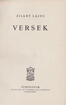 Zilahy Lajos - Versek [antikvár]