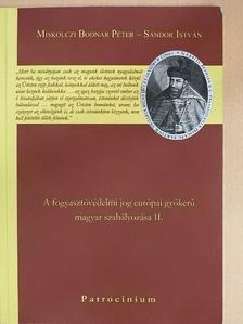 Miskolczi Bodnár Péter - A fogyasztóvédelmi jog európai gyökerű magyar szabályozása II. [antikvár]
