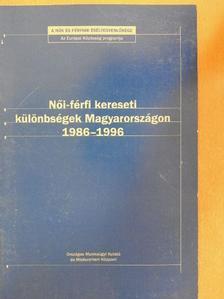 Galasi Péter - Női-férfi kereseti különbségek Magyarországon 1986-1996 [antikvár]