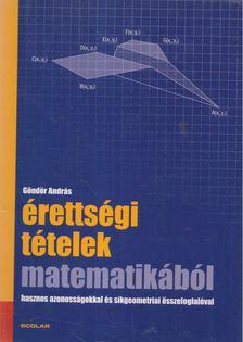 GÖNDÖR ANDRÁS - Érettségi tételek matematikából [antikvár]