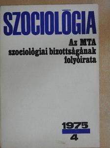 Andics Jenő - Szociológia 1975/4. [antikvár]