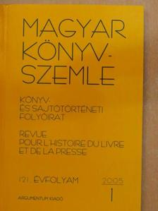 Bálint Gábor - Magyar Könyvszemle 2005/1. [antikvár]