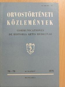Assion P. - Orvostörténeti közlemények 78-79 [antikvár]