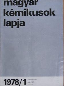 Gere Anna - Magyar Kémikusok Lapja 1978. január-december [antikvár]