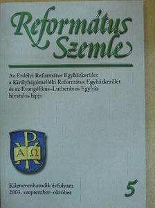Benyik György - Református Szemle 2003. szeptember-október [antikvár]