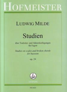 MILDE, LUDWIG - STUDIEN ÜBER TONLEITER- UND AKKORDZERLEGUNGEN FÜR FAGOTT OP.24