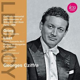 GRIEG, LISZT, LULLY, SCARLATTI - PIANO CONCERTOS - FANTASY ON HUNGARY CD CZIFFRA GYÖRGY