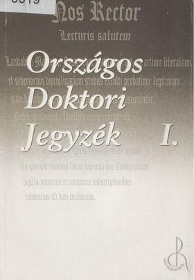 Országos Doktori Jegyzék I. [antikvár]
