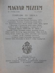 Andrásfalvy Bertalan - Magyar Múzeum 1993/1-4. [antikvár]