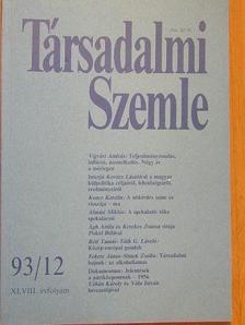 Ágh Attila - Társadalmi Szemle 1993. december [antikvár]
