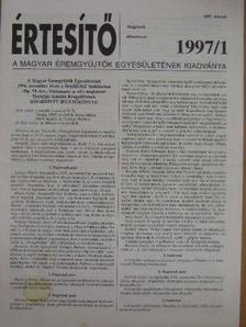 Garami Erika - Értesítő 1997/1. [antikvár]