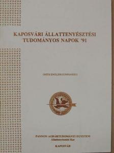 Dr. Alois Basler - Kaposvári Állattenyésztési Tudományos Napok '91 [antikvár]