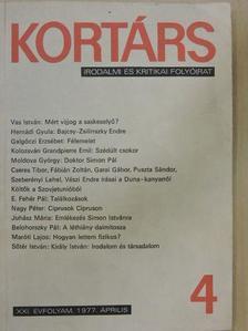 Almási Miklós - Kortárs 1977. április [antikvár]