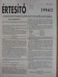 Dr. Szabó Antal - Értesítő 1994/2. [antikvár]