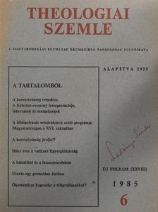 Albert Gábor - Theologiai Szemle 1985/6. [antikvár]