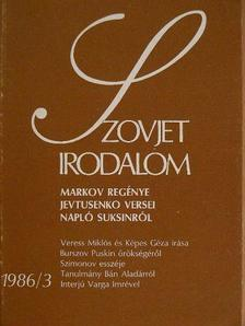 Alekszandr Fjodorov - Szovjet Irodalom 1986/3. [antikvár]