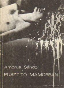 AMBRUS SÁNDOR - Pusztító mámorban [antikvár]