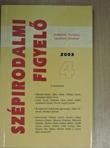 Abajkovics Péter - Szépirodalmi figyelő 2003/4. [antikvár]