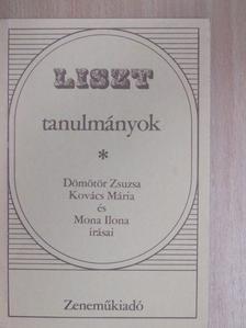 Dömötör Zsuzsa - Liszt tanulmányok [antikvár]