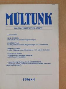 Gunst Péter - Múltunk 1996/4. [antikvár]