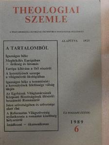 Aranyos Zoltán - Theologiai Szemle 1989/6. [antikvár]