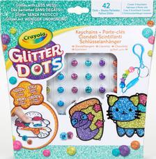 Glitteres Dekorgyöngyök: Kulcstartó készlet