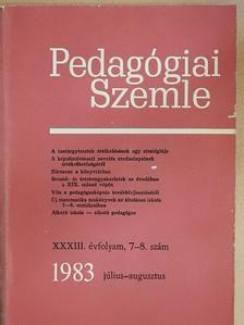 Hajdú Sándor - Pedagógiai Szemle 1983. július-augusztus [antikvár]