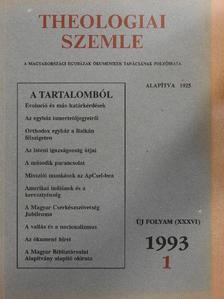 Berki Feriz - Theologiai Szemle 1993/1. [antikvár]