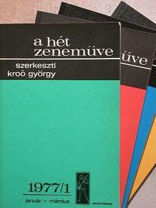A. Weber - A hét zeneműve 1977/1-4. [antikvár]