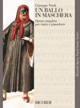 Verdi - UN BALLO IN MASCHERA PER CANTO E PIANOFORTE