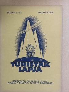 B. B. - Turisták Lapja 1942. március [antikvár]