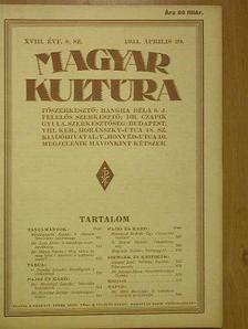 Baranyai András - Magyar Kultúra 1931. április 20. [antikvár]
