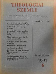 Balázs László - Theologiai Szemle 1991/6. [antikvár]