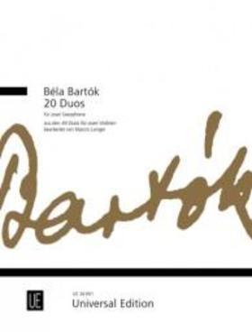 Bartók Béla - 20 DUOS - FOR TWO SAXOPHONES ARR. MARCIN LANGER