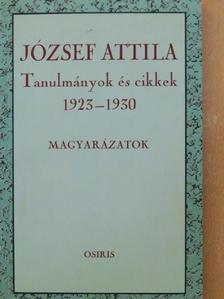József Attila - Tanulmányok és cikkek 1923-1930 - Magyarázatok [antikvár]