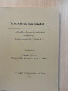 Durovics Alex - Tanulmányok Badacsonyból III. [antikvár]