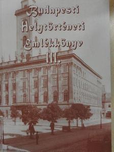 Bedő Árpád - Budapesti Helytörténeti Emlékkönyv III. [antikvár]