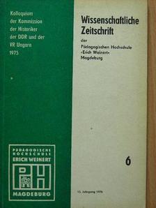 Günter Benser - Wissenschaftliche Zeitschrift der Pädagogischen Hochschule »Erich Weinert« Magdeburg [antikvár]