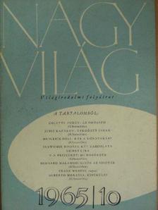 Alberto Moravia - Nagyvilág 1965. október [antikvár]