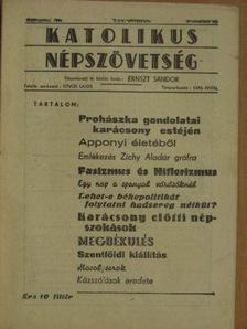 Dr. Buday Gyula - Katolikus Népszövetség 1937. december hó [antikvár]