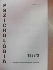 Bitter István - Pszichológia 1993/3. [antikvár]