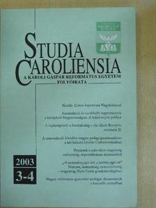 Bognár Zalán - Studia Caroliensia 2003/3-4. [antikvár]