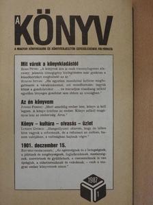 Bácskai László - A könyv 1987. január [antikvár]