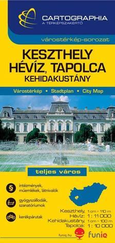 """Cartographia - Keszthely Hévíz várostérkép 1:11000 """"sc"""""""