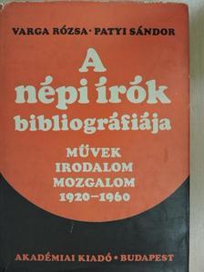 Patyi Sándor - A népi írók bibliográfiája [antikvár]
