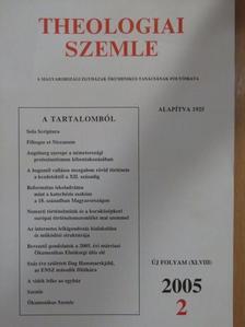 Albert András - Theologiai Szemle 2005/2. [antikvár]