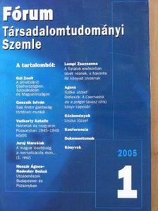 Bakó Boglárka - Fórum Társadalomtudományi Szemle 2005/1-4. [antikvár]